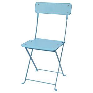 SALTHOLMEN                                Stuhl/außen, faltbar, blau