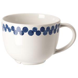 MEDLEM                                Becher, weiß/blau, gemustert, 49 cl