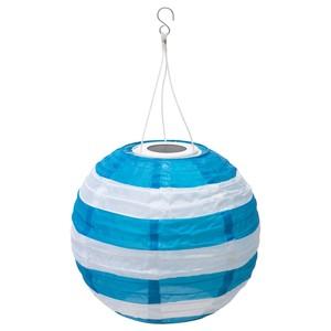 SOLVINDEN                                Solarhängeleuchte, LED, für draußen rund, gestreift blau, 30 cm
