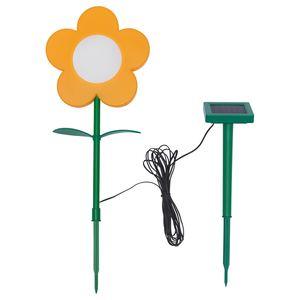 SOLVINDEN                                Solar-Erdspieß, LED, für draußen, Blume gelb