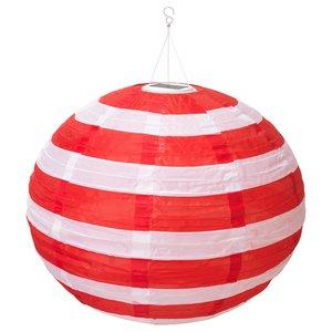 SOLVINDEN                                Solarhängeleuchte, LED, für draußen rund, Streifen rot, 70 cm