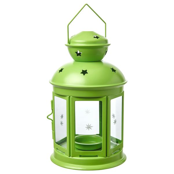 ROTERA                                Laterne für Teelicht, drinnen/draußen, hellgrün, 21 cm