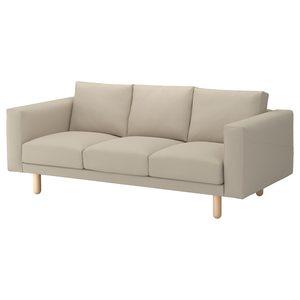 NORSBORG                                3er-Sofa, Edum beige beige/Birke