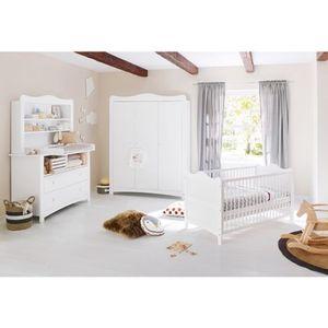 Pinolino   3-tlg. Babyzimmer Florentina extrabreit groß, inkl. extrabreitem Regalaufsatz