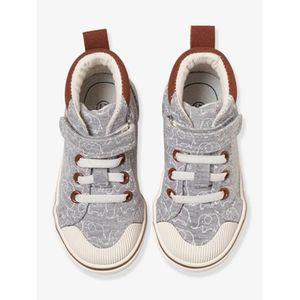 Vertbaudet   Sneakers für Baby Jungen, Elefant gedruckt hellgrau