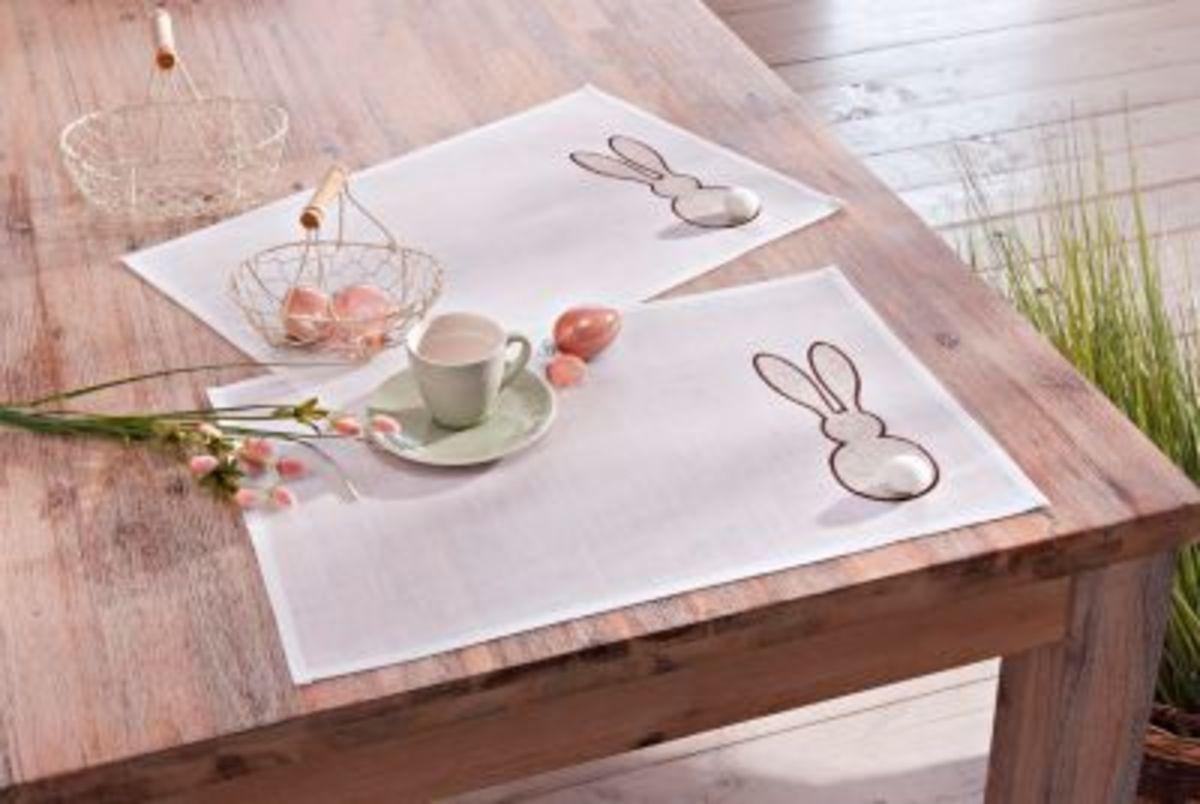 Bild 2 von Tischsets Hasensilhouette, 2er-Set