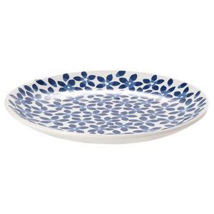 MEDLEM                                Dessertteller, weiß/blau, gemustert, 22 cm