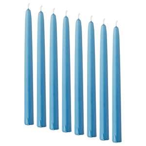 KLOKHET                                Kerze, duftneutral, blau, 25 cm