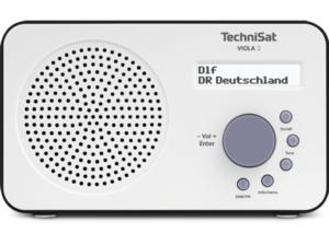 TECHNISAT VIOLA 2, weiß/schwarz, Portables DAB+/UKW-Radio, Weiß/Schwarz
