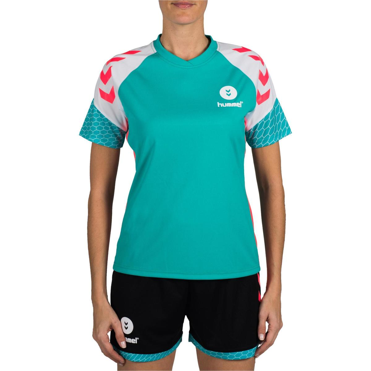 Bild 2 von Handballtrikot Damen türkis/weiß