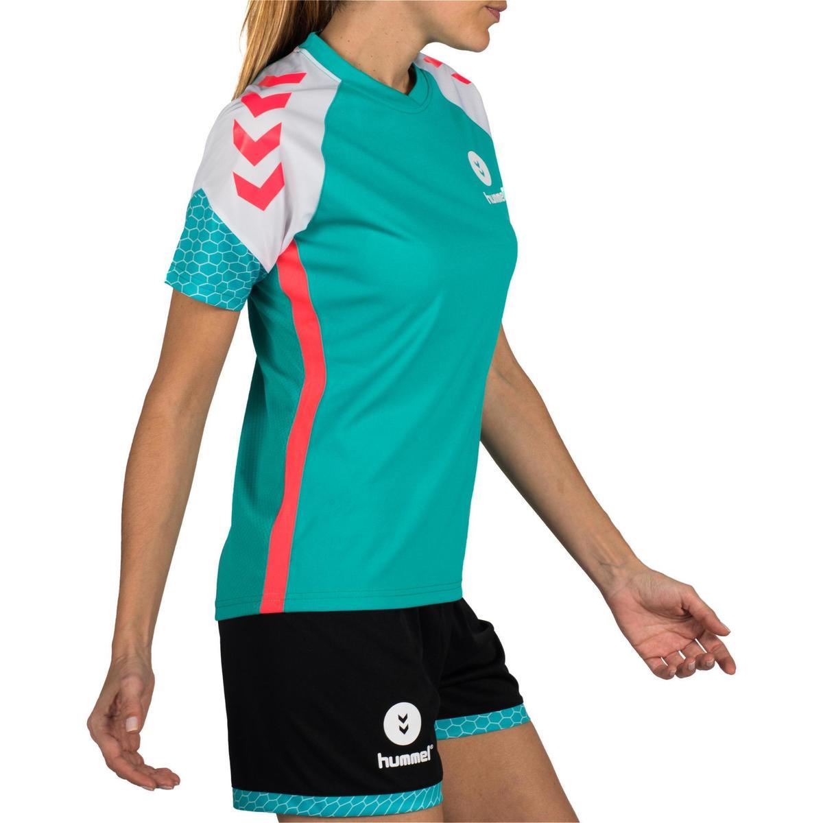 Bild 3 von Handballtrikot Damen türkis/weiß
