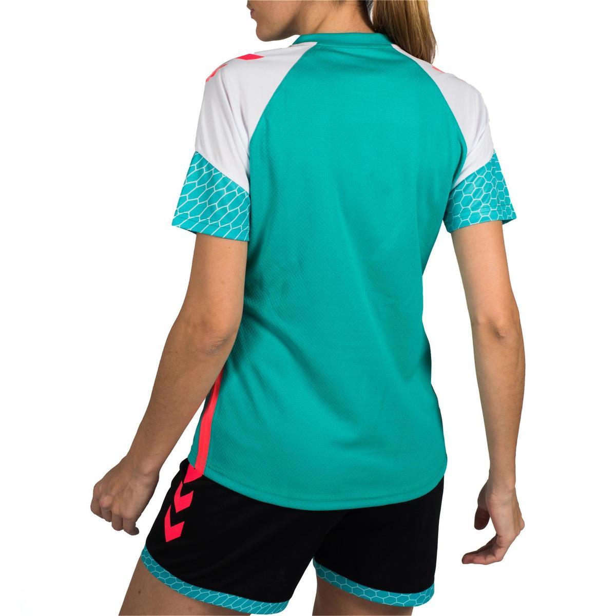 Bild 4 von Handballtrikot Damen türkis/weiß