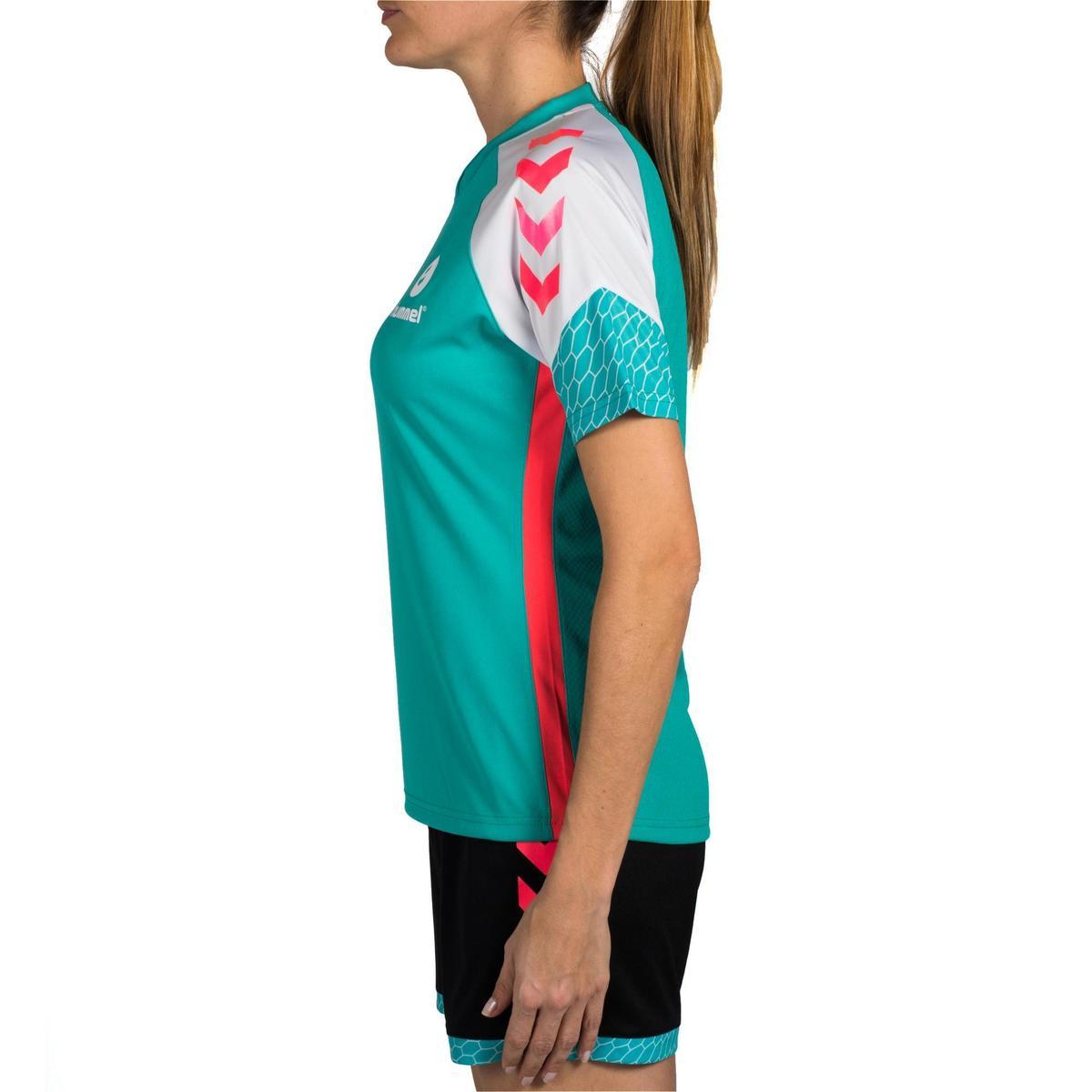 Bild 5 von Handballtrikot Damen türkis/weiß