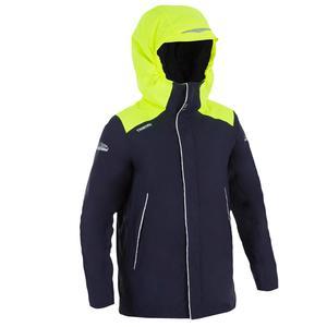 Segeljacke warm 100 Jungen blau/gelb