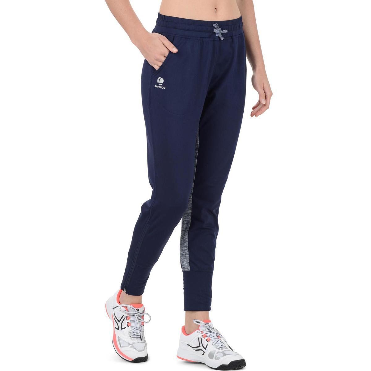 Bild 2 von Tennishose Trainingshose Warm 500 Tennis Damen marineblau
