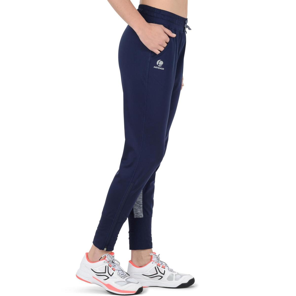 Bild 3 von Tennishose Trainingshose Warm 500 Tennis Damen marineblau