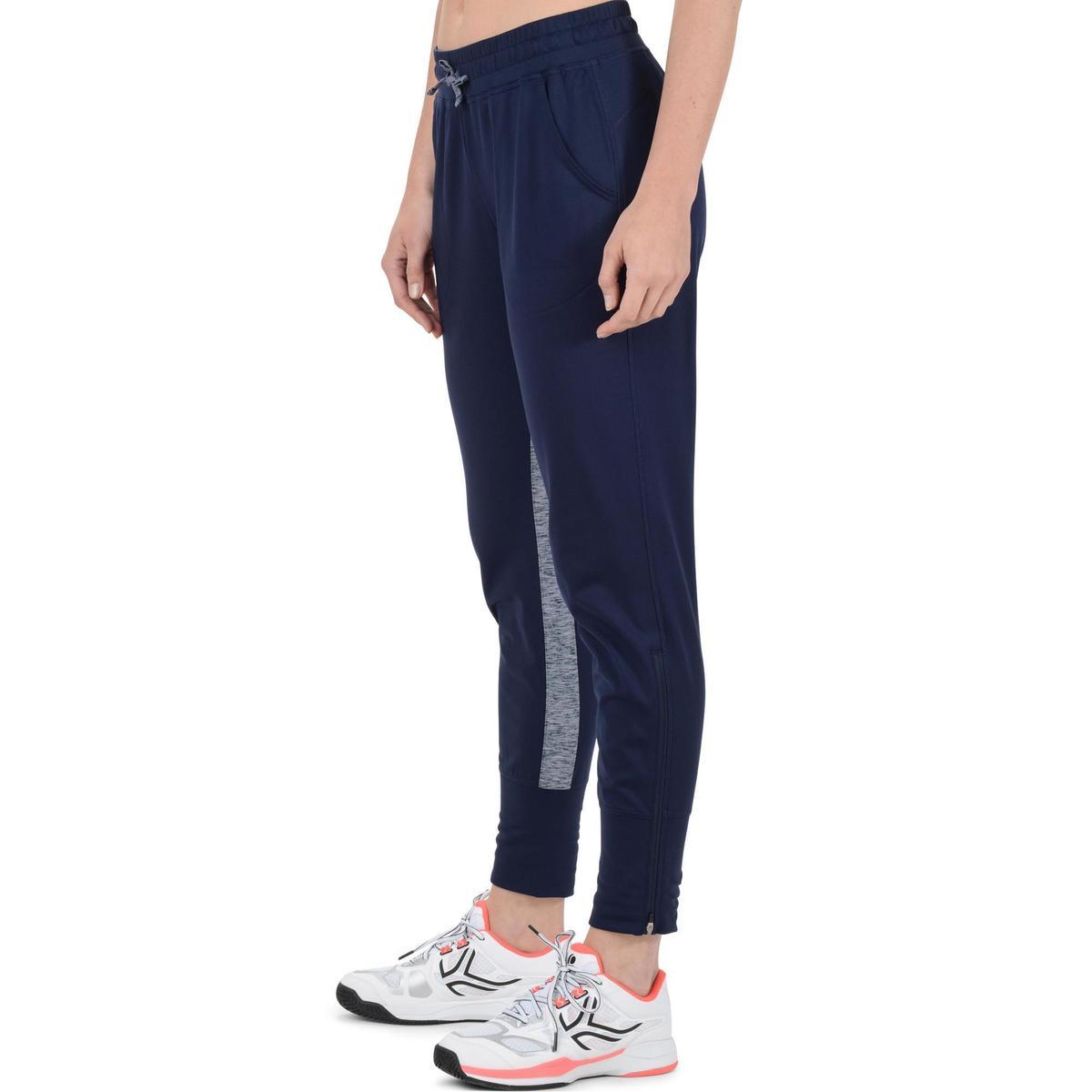 Bild 5 von Tennishose Trainingshose Warm 500 Tennis Damen marineblau