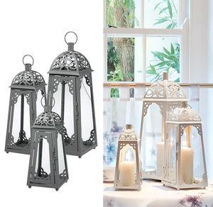 Metalllaternen-Set mit Ornamenten, 3-teilig