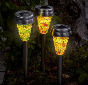 Mosaik-Solar-Lampe in verschiedenen Ausführungen, ca. 38,5cm
