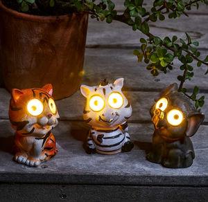 Solar-Tierlicht als Tiger, Elefant oder Zebra, ca. 11cm