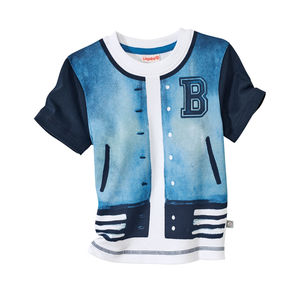 Liegelind Baby-Jungen-Shirt mit Jacken-Aufdruck