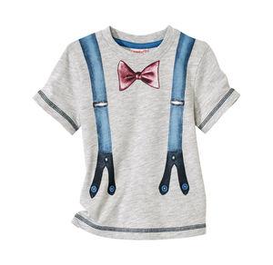 Liegelind Baby-Jungen-Shirt mit Hosenträgern-Aufdruck