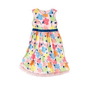 Liegelind Baby-Mädchen-Kleid mit buntem Blumen-Muster