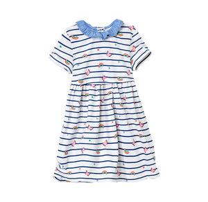 Liegelind Baby-Mädchen-Kleid mit schönen Regenbögen