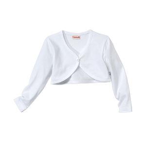Liegelind Baby-Mädchen-Bolero in wunderschönem Weiß