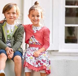 Kids Mädchen-Kleid mit Bolero