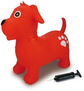 Jamara Hüpftier Hund mit Pumpe rot