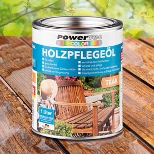 Powertec Color Holzpflegeöl 1 Liter