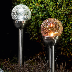 I-Glow LED-Solar-Gartenleuchte 2er