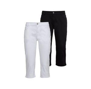 Laura Torelli COLLECTION Damen-Caprihose mit Jeans-Bund