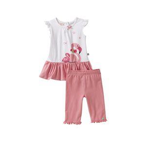 Liegelind Baby-Mädchen-Set mit schicken Rüschen, 2-teilig