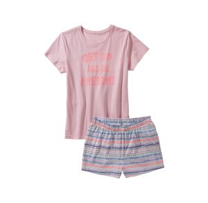 Laura Torelli Young Fashion Mädchen-Shorty mit modernem Muster, 2-teilig