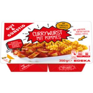 Gut & Günstig Currywurst mit Pommes und Sauce