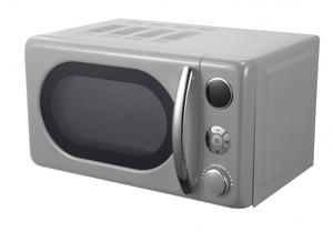 Medion Retro Mikrowelle, silber