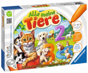 Ravensburger tiptoi Puzzle, Alle meine Tiere