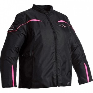 Bering            Adele Damen Textil Motorradjacke schwarz/fuchsienrot 46