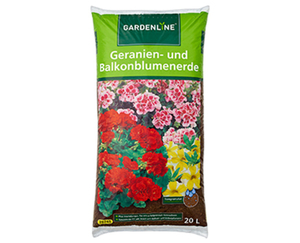 GARDENLINE®  Geranien- und Balkonblumenerde