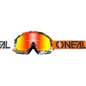 O'Neal            B-10 Crossbrille Pixel Radium orange/weiß