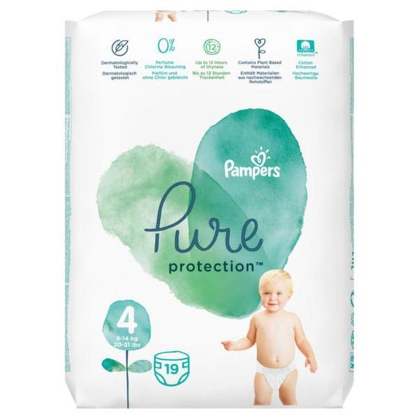 Pampers Pure Protection Windeln Größe 4 (9-14 kg)