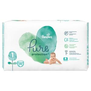 Pampers Pure Protection Windeln Größe 1 (2-5 kg)