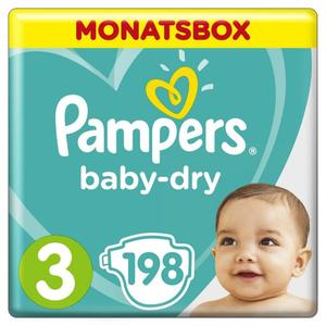 Pampers Windeln baby-dry Gr. 3 (6-10 kg) Monatsbox