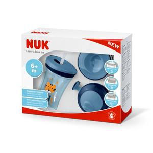 NUK Learn to Drink Set, blau