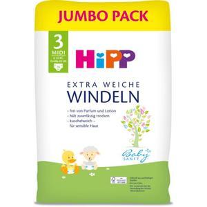 HiPP Babysanft extra weiche Jumbo Pack Windeln Größe 3 (Midi, 6-10 kg)