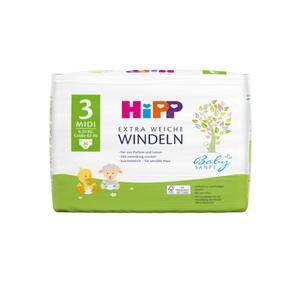 HiPP Babysanft extra weiche Windeln Größe 3 (Midi, 6-10 kg)