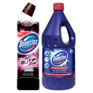 Domestos Hygienereiniger 2 Liter oder Domestos WC Blitz Gel 750ml, versch. Sorten, jede Flasche