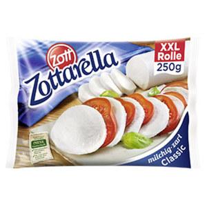 Zottarella Mozzarella Weichkäse in Lake,  45 % Fett i. Tr.,  jede 250-g-Packung